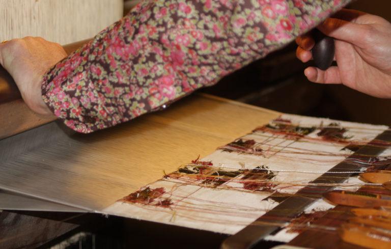 Image Du papillon au tissu de soie